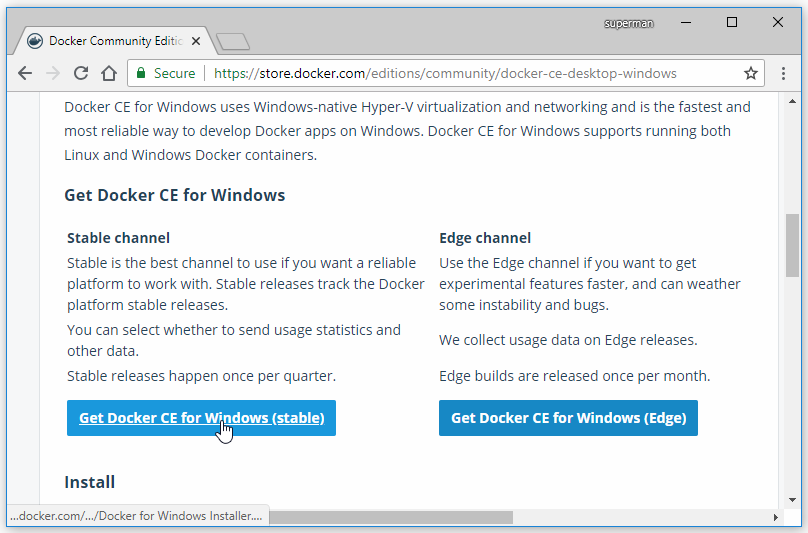 download docker windows 10