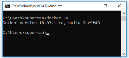 kiểm tra version docker