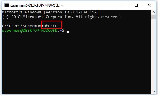 Cài đặt ubuntu trên windows 10 với Windows Linux Subsystem