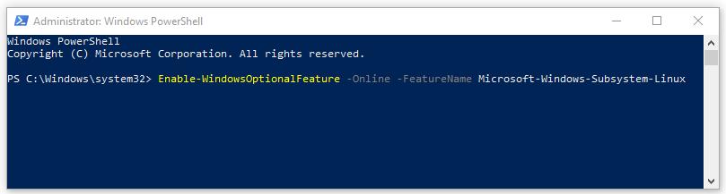 Mở cửa sổ CMD hoặc PowerShell với quyền admin và chạy lệnh sau: