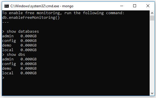 Hướng dẫn MongoDB - Tạo database trong MongoDB