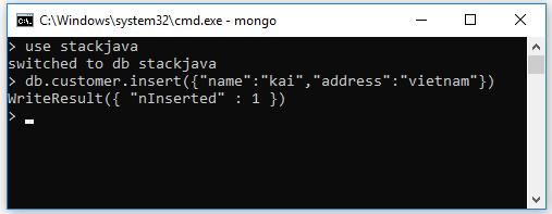 Insert document, bản ghi trong MongoDB (Insert bằng lệnh, Robo3T)