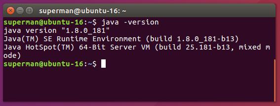 kiểm tra version java ubuntu