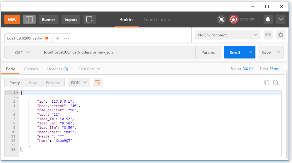 API Hiển thị chi tiết thông tin node: