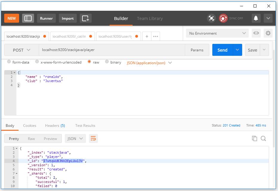 API tạo dữ liệu - Insert, thêm dữ liệu vào Elasticsearch
