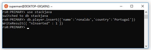 Insert dữ liệu vào mongodb - demo monstache