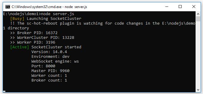 Cài đặt SocketCluster Server, Tạo ứng dụng SocketCluster Hello World