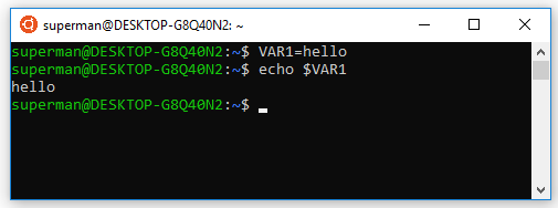 Tạo biến cho shell hiện tại trên ubuntu