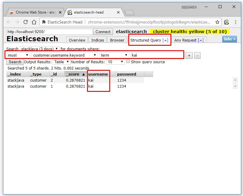 Truy vấn document - dữ liệu Elasticsearch với Elasticsearch Head