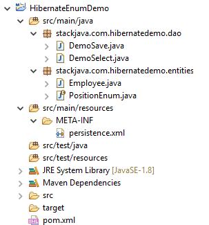 Code ví dụ Hibernate @Enumerated, lưu dữ liệu dạng Enum