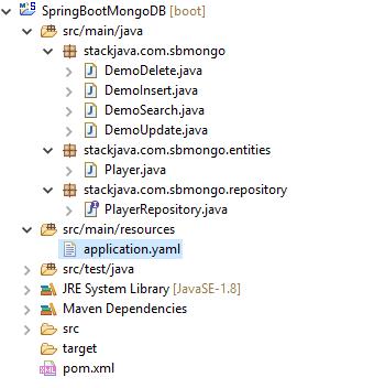 Code ví dụ Spring Boot - Spring Data MongoDB với MongoRepository