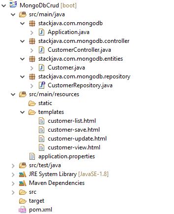 Code ví dụ Spring Boot MongoDB Thymeleaf (Thêm, sửa, xóa)