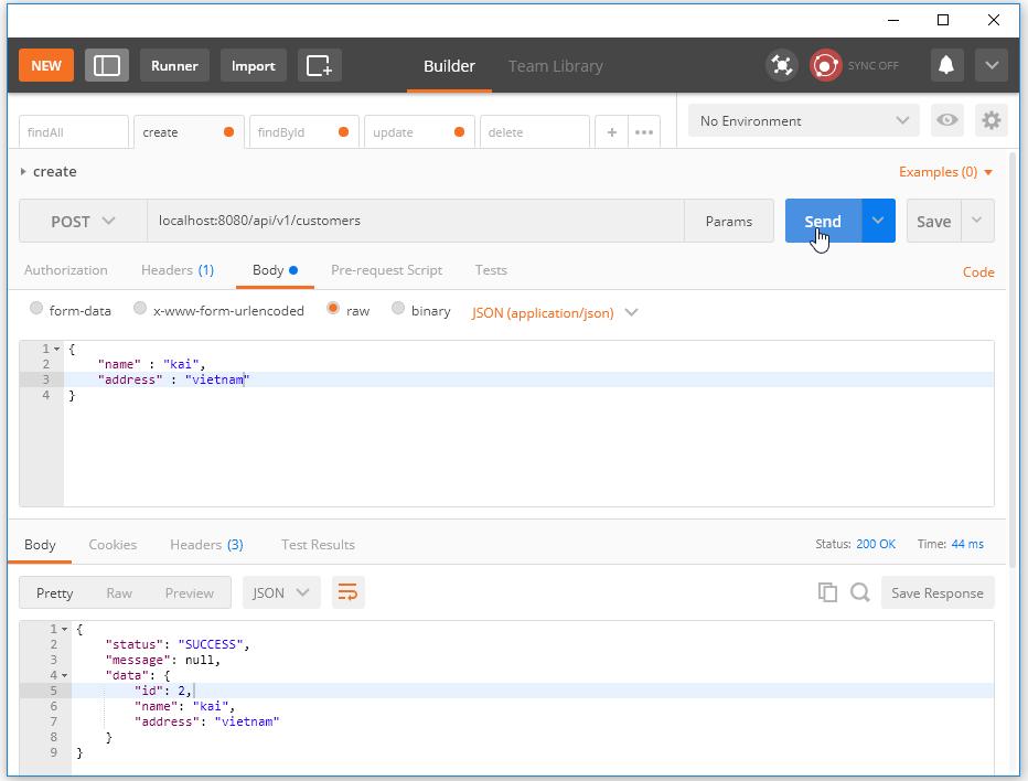 Code ví dụ Spring Boot RESTful Webservice với MySQL (JPA)