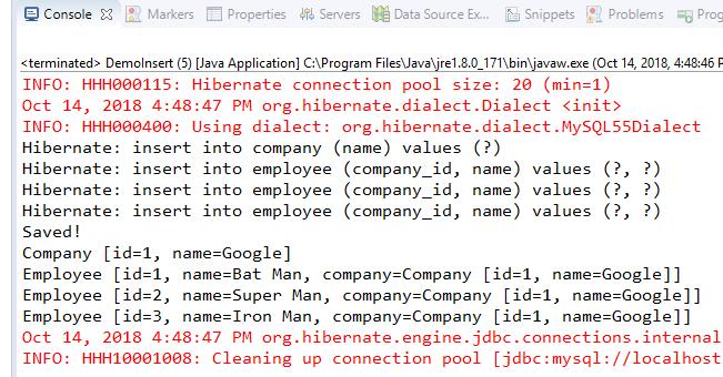 Code ví dụ Hibernate FetchType = EAGER (Eager loading)