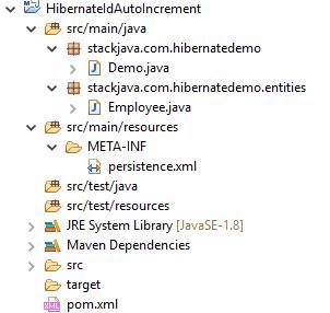 Code ví dụ Hibernate ID tự tăng (@GeneratedValue, @GenericGenerator)