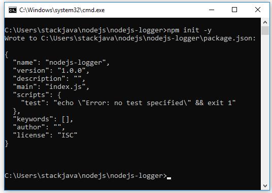 Code ví dụ Node.js logger - ghi log với module winston