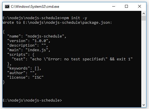 tạo lịch trong node.js