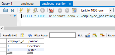 demo hibernate lưu trữ dạng list