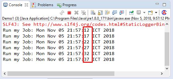 Code ví dụ Java đặt lịch với Quartz Scheduler