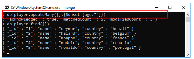 Xóa cột, field, trường của collections trong MongoDB ($unset)