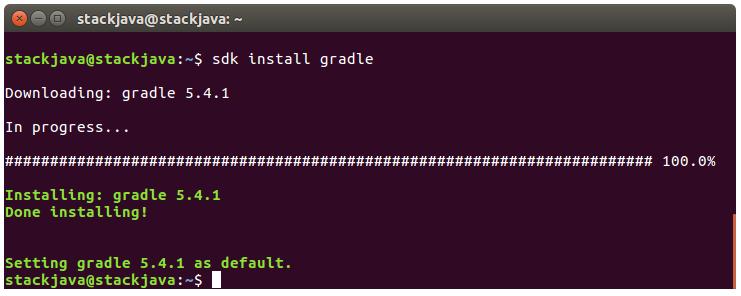 Hướng dẫn cài đặt Gradle bằng SDKMAN