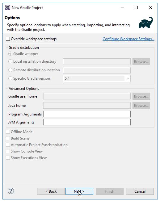 Code ví dụ Gradle Java Hello World với Eclipse