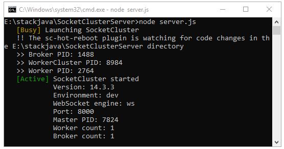 Code ví dụ Java SocketCluster Client