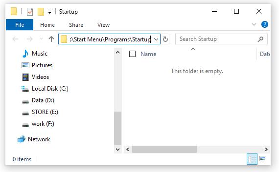 Tự động bật ứng dụng lúc khởi động Windows 10