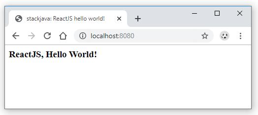 Code ví dụ React, ReactJS hello world