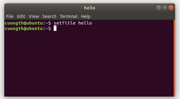 Sửa tên, title của cửa sổ terminal trên Ubuntu