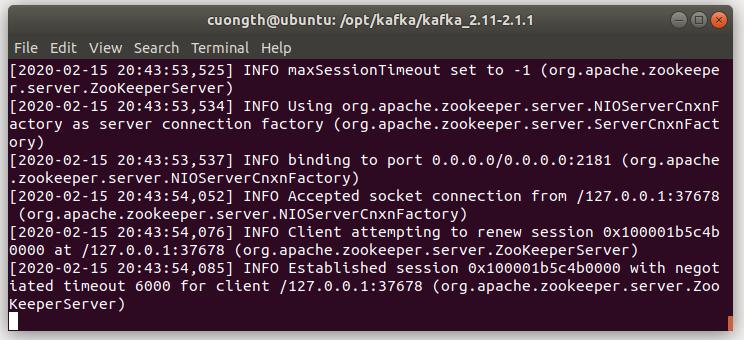 Chạy Zookeeper trên ubuntu