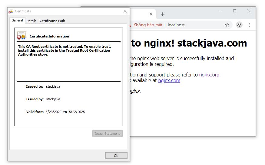 Cấu hình HTTPS Server cho NGINX (SSL Certificate trong NGINX)