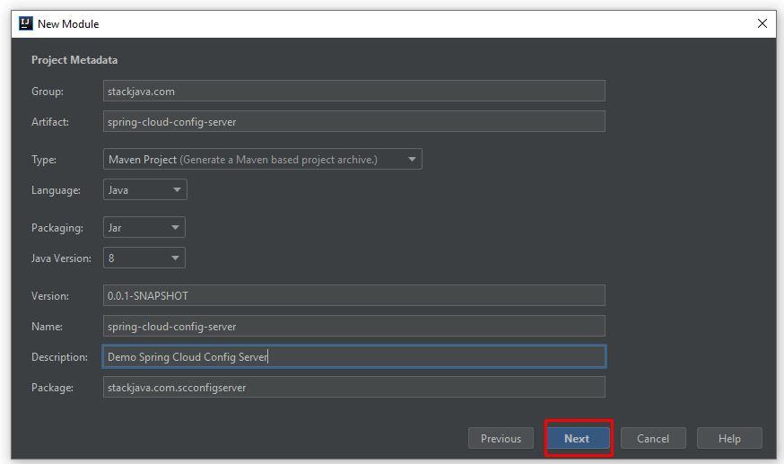 Code ví dụ Spring Cloud Config Server