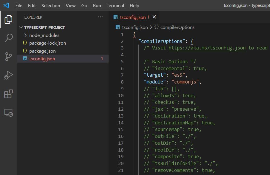 Code ví dụ TypeScript, hướng dẫn tạo project TypeScript